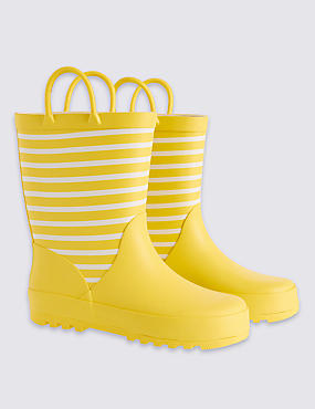 Kids' Striped Wellies