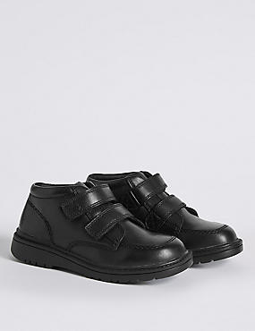 Kids' Leather Ankle Boots with Freshfeet™