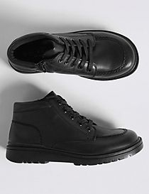 Kids' Leather Lace-up Freshfeet™ Boots