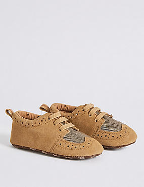Kids' Pram Shoes, TAN, catlanding