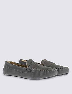 Kids' Suede Moccasin Slippers