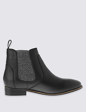 Kids' Leather Chelsea Boots