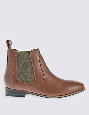 Kids' Leather Chelsea Ankle Boots