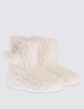 Kids' Fur Slipper Boots