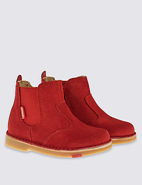 Kids' Walkmates Leather Chelsea Stitch Down Boots