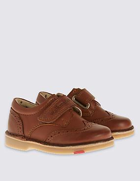 Kids' Leather Walkmates™ Brogue Boots , BROWN, catlanding