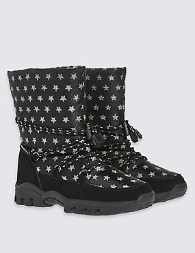 Kids Star Print Snow Boots