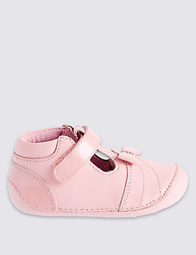 Kids' Leather Pre Walker Cross Bar Shoes
