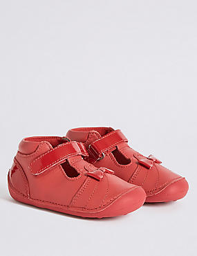 Kids' Leather Pre Walker T-Bar Shoes