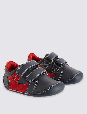 Kids' Leather Riptape Pre Walker Shoes