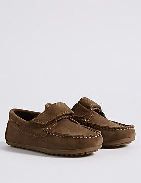 Kids' Suede Driver Shoes
