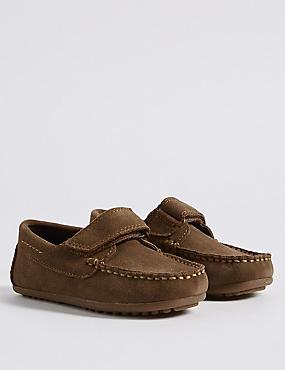 Kids' Driver Riptape Shoes (5 Small - 12 Small), TAN, catlanding