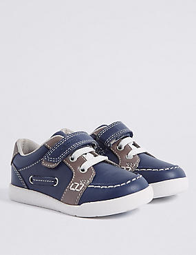 Kids' Walkmates™ Fashion Trainers (4 Small - 11 Small), NAVY MIX, catlanding