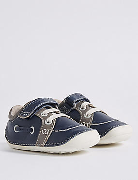 Kids' Leather Pre Walker Boat Shoes (2 Small - 5 Small)