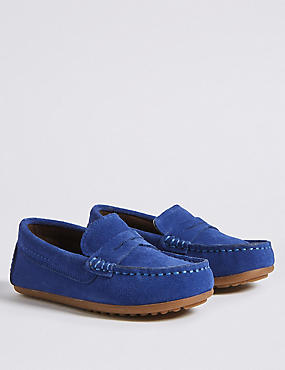 Kids' Driving Shoes (5 Small - 12 Small), COBALT, catlanding