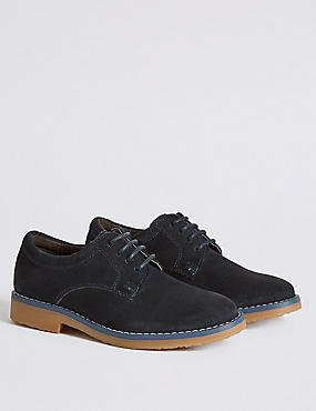 Kids' Suede Derby Lace-up Shoes