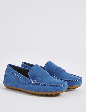 Kids' Suede Water Repellent Slip-on Shoes