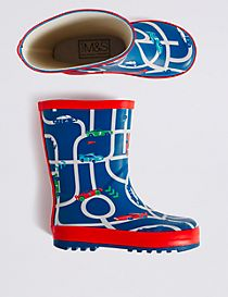 Kids' Novelty Car Welly Boots