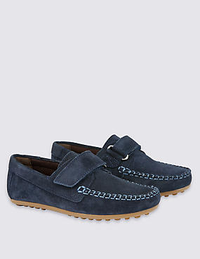 Kids' Water Repellent Suede Riptape Shoes