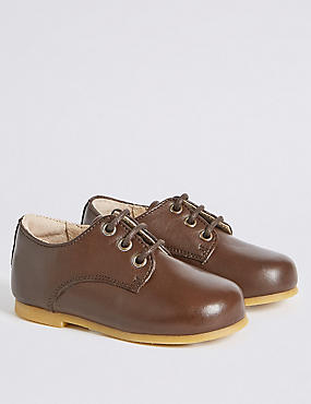Kids' Leather Lace-up Shoes