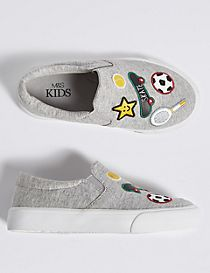 Kids' Badged Fashion Trainers