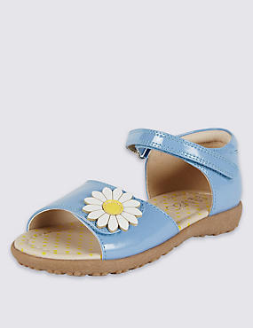 Kids' Daisy Appliqué Riptape Sandals