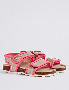 Kids' Riptape Glitter Footbed Sandals