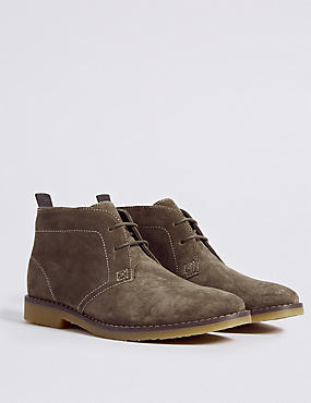 Kids' Suede Chukka Boots (13 Small - 7 Large), STONE, catlanding