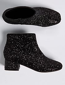 Kids' Glitter Ankle Boots