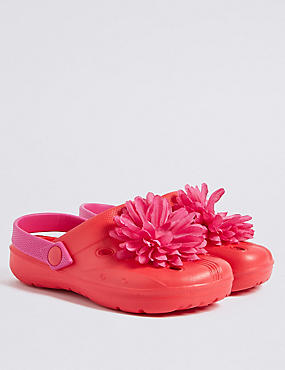 Kids' Flower Corsage Clogs