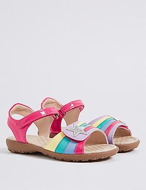 Kids' Riptape Rainbow Sandals, MULTI, catlanding