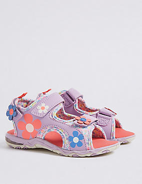 Kids' Riptape Floral Flashing Light Sandals