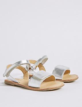 Kids' Riptape Sandals (5 Small - 12 Small), SILVER MIX, catlanding