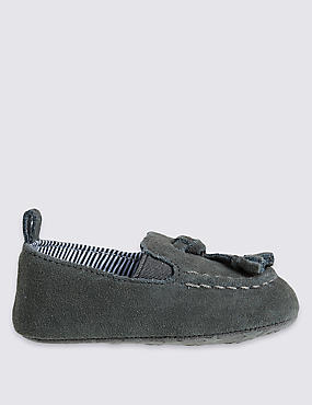 Kids' Leather Loafer Pram Shoes