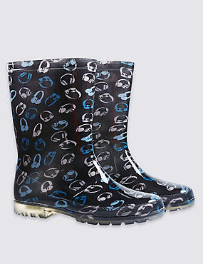 Kids' Lights-up Wellington Boots