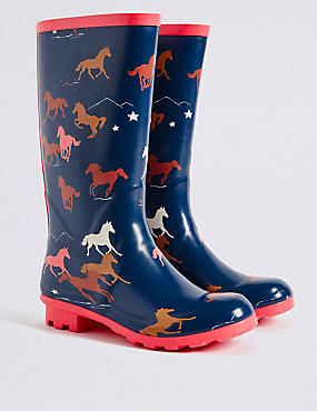 Kids' Horse Welly Boots