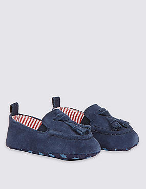 Kids' Leather Slip-on Pram Shoes