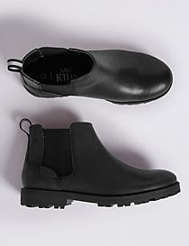 Kids' Leather Pull-on Chelsea Boots