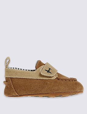 Kids' Leather Riptape Boat Shoes