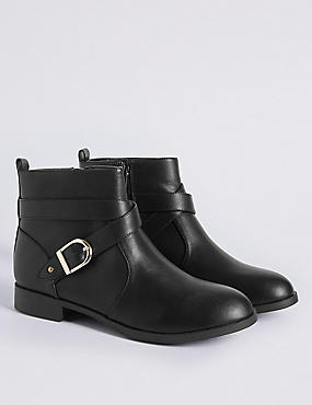 Kids' Buckle Ankle Boots