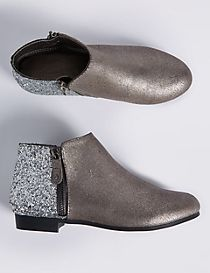 Kids' Metallic Ankle Boots