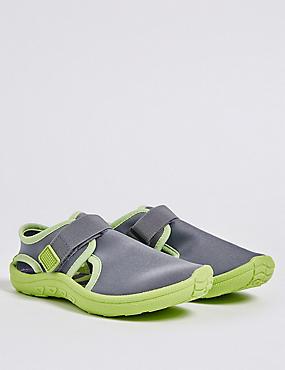 Kids' Aqua Shoes (5 Small - 12 Small), GREY MIX, catlanding