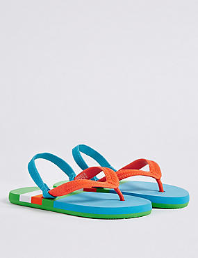 Kids' Striped Flip-flops