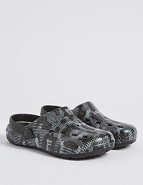 Kids' Printed Clogs (13 Small - 7 Large), GREY MIX, catlanding