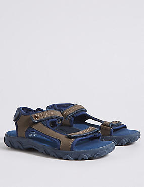 Kids' Denim Trekker Sandals (13 Small - 7 Large), DENIM MIX, catlanding