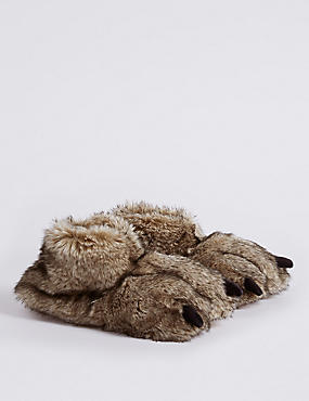 Kids' Faux Fur Slippers