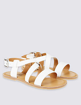 Kids' Leather Flat Sandals