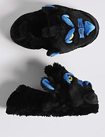 Kids' Slip-on Gorilla Slippers