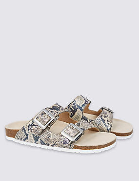 Kids' Footbed Animal Print Sandals