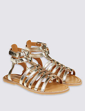 Kids' Leather Riptape Sandals